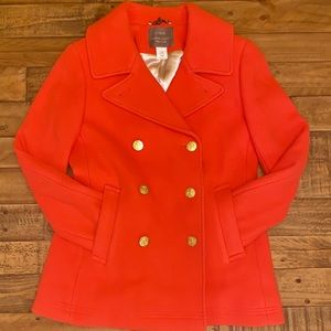 NEW w/out tags J.Crew Majesty Peacoat In Orange S4